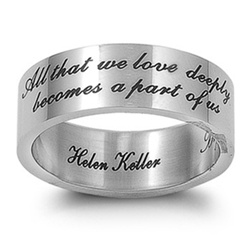 Stainless Steel Plain Inspirational Band Ring
