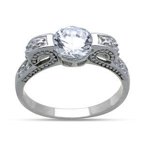 wedding rings for mechanics sterling silver cz ring 8mm clear cz wedding ring 1034